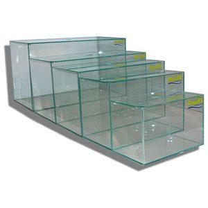 Glass Aquarium   24x12x15  With Lids