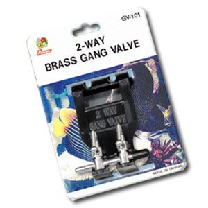 Brass Gang Valve 2way With Hanger