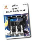 Brass Gang Valve 3way With Hanger