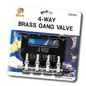 Brass Gang Valve 4way With Hanger