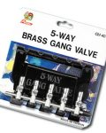 Brass Gang Valve 5way With Hanger