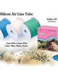 Silicone Air Tubing 100m Clear/blue/green