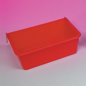 Small Rectangular Cup W/metal Hooks 17.5 X 10.5cm