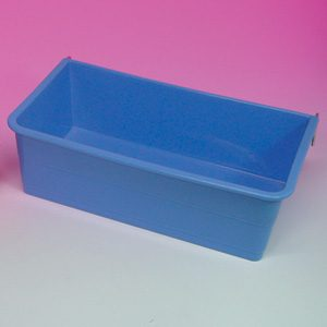 Large Rectangular Cup W/metal Hooks 23.5 X 13 X 7.5cm