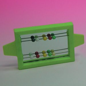 Clip On Mirror W/beads