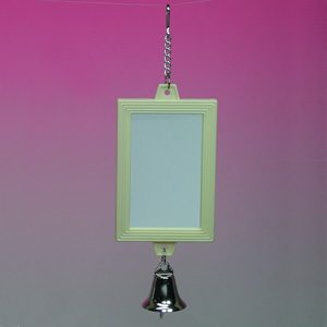 2 sided Rectangular Mirror W/bell