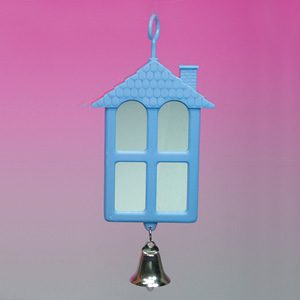 2 Sided House Shape Mirror W/bell