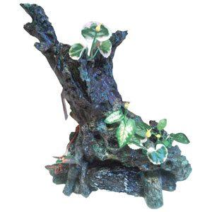 Resin Tree Stump W/plants 29 X 17 X 30cm
