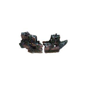Resin Split Shipwreck 25 X 8 X 12 Cm