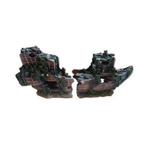 Resin Split Shipwreck 39 X 13 X 19cm