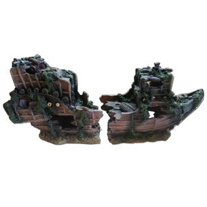 Resin Split Shipwreck 70 X 23 X 30cm