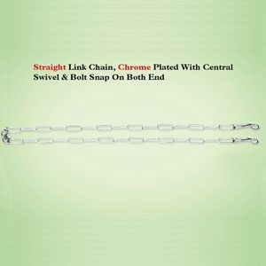 Straight Link Tie Out Chain 2.5 X 9'