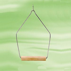 "Wooden Swing Perch Triangle 4""x8""h"