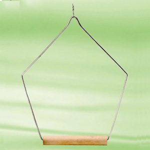 """Wooden Swing Perch Triangle 5""""x10""""h"""