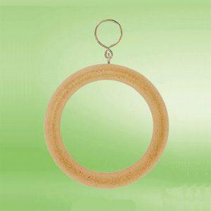 "Wooden Bird Ring Swing 4.25"" Dia."