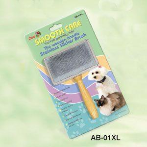 Slicker Brush Wooden Handle S/S Back (XL)