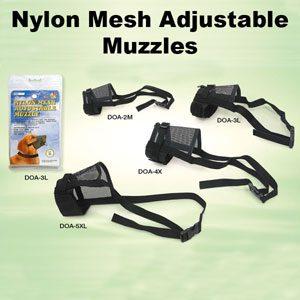 Nylon Mesh Muzzle Size 1 (velcro + Belt Clip)