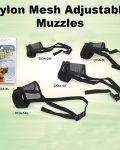 Nylon Mesh Muzzle Size 4 (velcro + Belt Clip)
