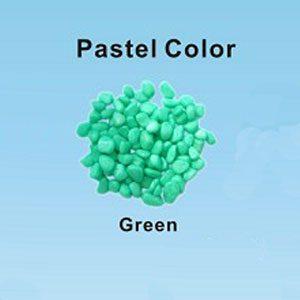 Pastel Coloured Gravel 12.15mm 1kg Green