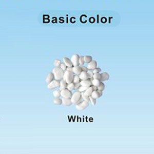 Pastel Coloured Gravel 12.15mm 1kg White