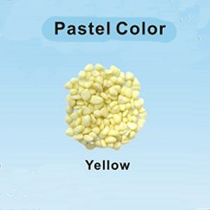 Pastel Coloured Gravel 12.15mm 1kg Yellow