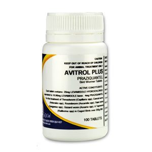 Avitrol Plus Bird Wormer Tablets 100's