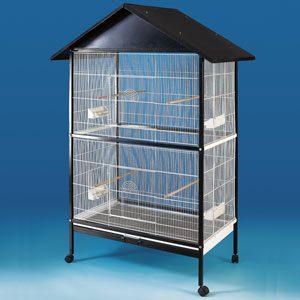 Parrot Cage On Castors, Suits Small Birds