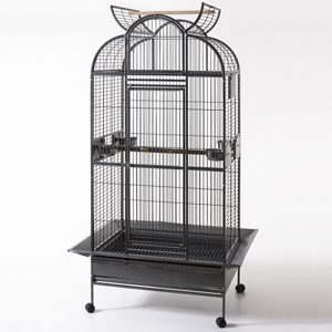 Parrot Cage On Castors, 91 X 71 X 182cm (open Top)