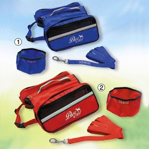 Nylon Back Pack with bowl & Lead 26cm X 33cm
