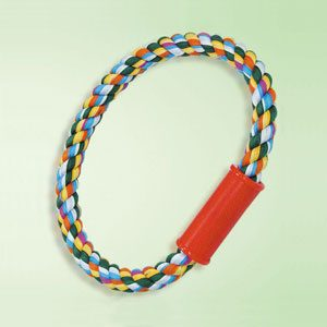 Dog Rope Tug Toy Ringshape With handle 26mm