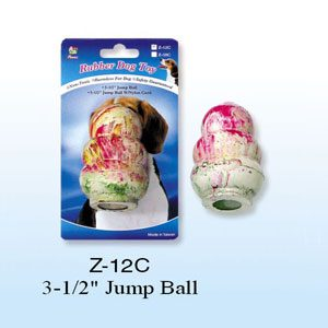 "Rubber Tumbler Ball 3.5""h"