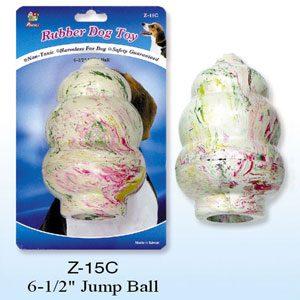 """Rubber Jump Ball (tumbler) 6.5""""h"""