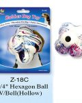 "Rubber  Hexagon Solid Ball 4"""