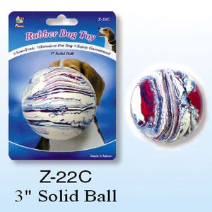 Rubber Solid Ball 3""