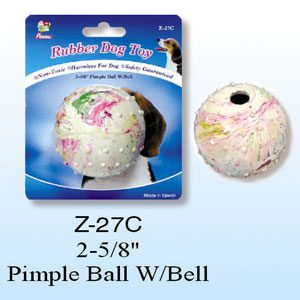 """Rubber Pimple Ball With bell 2.75"""""""