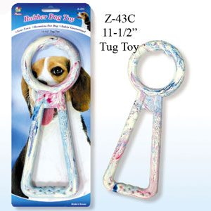 """Rubber Tug Toy 11.5"""""""