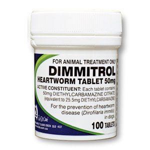 Fido's Dimmitrol Heartworm Tabs 50mg 100's