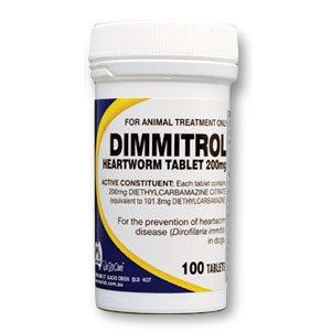 Fido's Dimmitrol Heartworm Tabs 200mg 100's