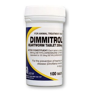 Fido's Dimmitrol Heartworm Tabs 200mg 1000's