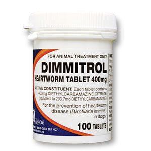 Fido's Dimmitrol Heartworm Tabs 400mg 1000's