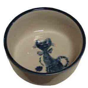 Ceramic Cat Dish Patterned 110mm