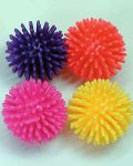 Carded 4pk Spikey Fun Balls
