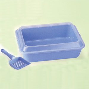 Litter Tray With Rim And Scoop 47cm X 38cm X 15cmh