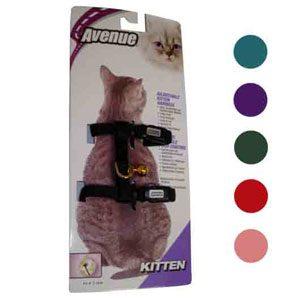 Kitten Harness Nylon / Card - Lt. Blue