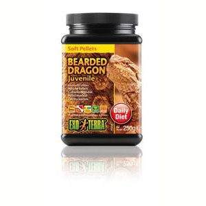 Exo Terra Bearded Dragon Food Juvenile Soft Pellets - 250g