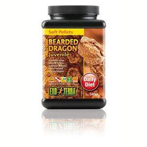 Exo Terra Bearded Dragon Food Juvenile Soft Pellets - 540g