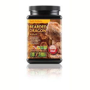Exo Terra Bearded Dragon Food Adult Soft Pellets - 250g