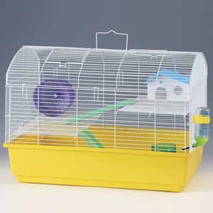 Rat Cage Plastic Base - Wire Top with Accessories