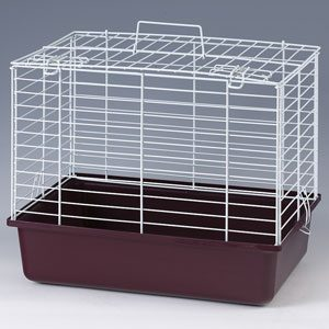 Small Animal Cage Carrier Plastic Base - Wire Top