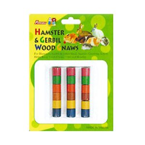 18pc Small Coloured Gerbil Wool Gnaw Carded